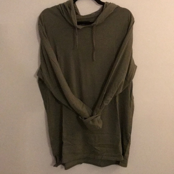PacSun Other - Long olive green thin hoodie